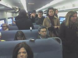 Commuters on NJ Transit