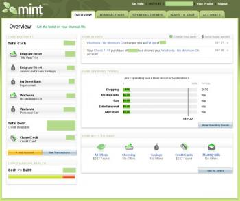 Mint Overview Screen