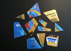 sliced credit card