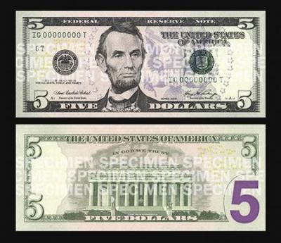 New $5 bill design