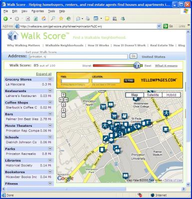 Walk Score for Princeton, NJ