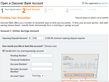 Open a Discover Bank Savings Account