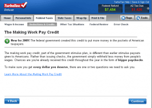 TurboTax - Making Work Pay