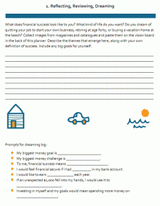 Kimberly Palmer's Money Planner, Page 1