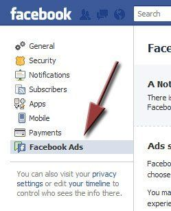 Facebook ads settings