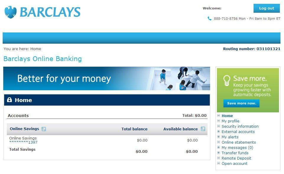 barclays online account services