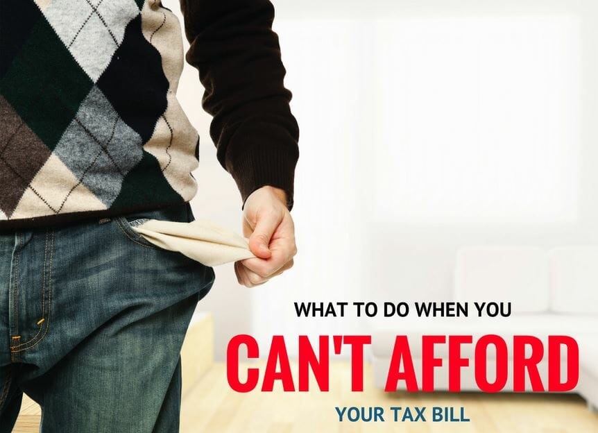 How To Pay A Tax Bill You Can T Afford Consumerism