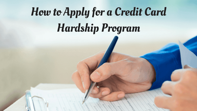 credit card hardship program
