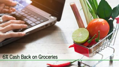 6 percent cash back on groceries